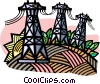 Hydro towers Vector Clipart graphic