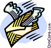 Vector Clip Art picture  of an airmail