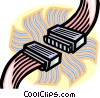 computer cables Vector Clip Art picture
