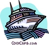 Vector Clip Art picture  of a Yacht