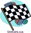 checkered flag Vector Clipart picture
