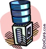 Vector Clipart graphic  of a water cooler