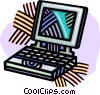 Vector Clip Art graphic  of a laptop computer