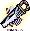 Vector Clipart graphic  of a handsaw