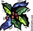 Vector Clip Art graphic  of a holly