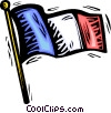 Flag of France Vector Clipart picture