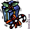 Vector Clipart illustration  of a Christmas gift/ present