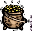pot of gold Vector Clip Art picture
