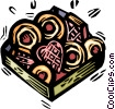 Vector Clipart picture  of a box of chocolates