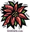 Vector Clipart image  of a poinsettia