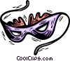 Vector Clipart image  of a mardi gras mask