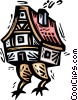 Vector Clipart graphic  of a house with turkey legs