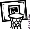 basketball net Vector Clip Art picture