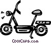 Vector Clip Art image  of a scooter