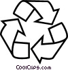 Vector Clipart image  of a Recycle symbol