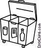 Vector Clipart image  of a Recycle bin