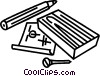 Vector Clip Art picture  of a building plans and supplies