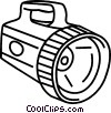 Vector Clip Art image  of a Flashlight