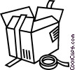 Shipping box with tape Vector Clipart graphic