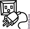 Vector Clipart illustration  of a Outlet and plug