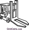 Vector Clip Art picture  of a Fork lift