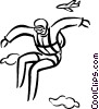 Vector Clip Art image  of a skydiver