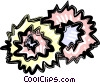Vector Clip Art picture  of a pom-poms