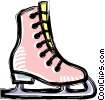 Vector Clip Art image  of a Figure skates
