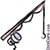 fishing pole Vector Clipart image