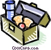 Vector Clipart graphic  of a lunch box