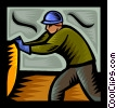 warehouse worker Vector Clip Art graphic
