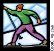 Cross country skiing Vector Clip Art picture