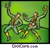 people celebrating St. Patrick's day Vector Clip Art picture