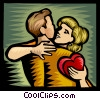 Vector Clipart illustration  of a valentine's day/romance