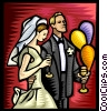 Bride and Groom Vector Clipart illustration