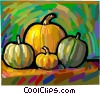 Vector Clipart picture  of a various squash