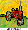 tractor Vector Clipart graphic