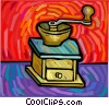 coffee grinder Vector Clipart graphic