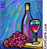 Vector Clipart picture  of a wine bottle