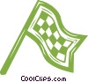 checkered flag Vector Clip Art image