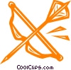 bow & arrow Vector Clipart image