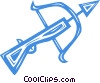 Vector Clipart picture  of a crossbow