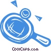 ping pong racket and ball Vector Clip Art image