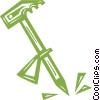 Vector Clip Art picture  of a mountain climbers pick
