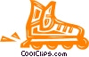 roller blade Vector Clip Art graphic