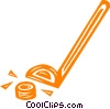 hockey stick and puck Vector Clip Art picture