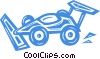 Vector Clip Art picture  of a race car