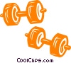 Vector Clipart image  of a weights