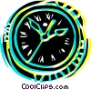 Vector Clip Art graphic  of a Wall clock