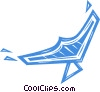 Vector Clip Art image  of a hang glider